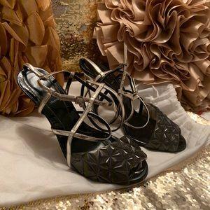 Fendi iridia diamond sandal size 40 US 9